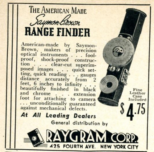 Źródło: Nesster, Saymon-Brown Range Finder 1939.